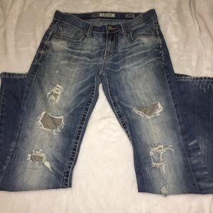 BKE Carter Boot Cut Distressed Jeans Size 31L